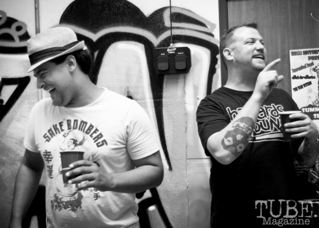 Matt Marrujo and Ed Young at The Where House?.  Sacramento CA  August 2012 Photo Melissa Uroff