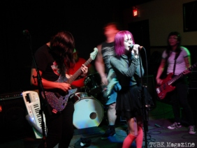Shoujo Kitten playing in Sacramento CA at Cafe Colonial during Bat Guano Festival 2014. Photo Ryan Stewart