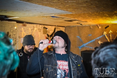 Sacramento punk band, Strange Party, kicks off the Ground Chuck Benefit show held at Casa de Chaos on January 9, 2016. Photo Vi Mayugba.