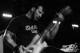 Bassist Joey Walser of Devour the Day playing at the Ace of Spades in Sacramento, CA. March 2016. Photo Alejandro Montaño