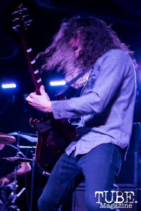 Guitarist David Hoffman of Devour the Day playing at the Ace of Spades in Sacramento, CA. March 2016. Photo Alejandro Montaño