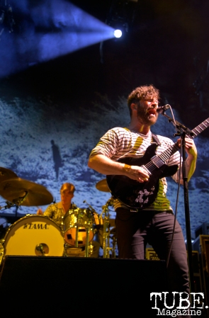 UK natives in the band Foals playing at Spring Fling Rock AF in Sacramento, CA, March 12, 2016.