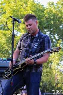 Shawn Peter singer/guitarist of The Ghost Town Rebellion, Concerts in the Park, Cesar Chavez Park, Sacramento, CA. May 27, 2016, Photo Anouk Nexus