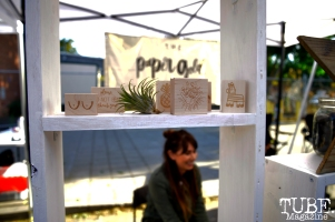 The Paper Gold Company sells stamp at the R Street Block Party in Sacramento, California on Saturday 21, 2016.