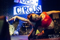 Rikki Morehouse of Sac Cirque. TUBE. Circus, Blue Lamp, Sacramento, May 2016. Photo Melissa Uroff