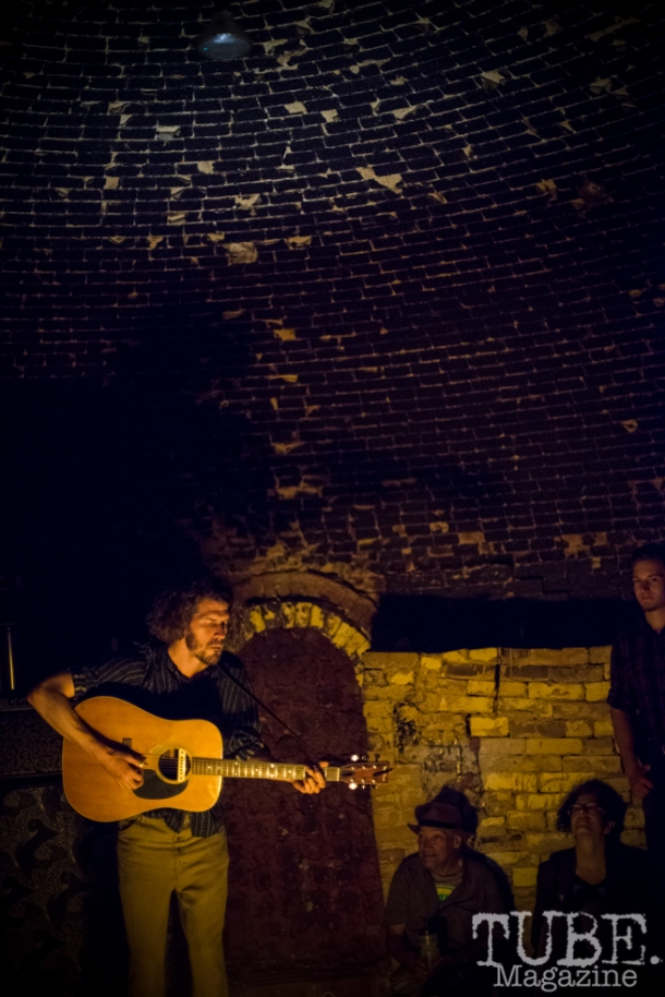 Deep Pools playing inside the giant kiln at The Panama Art Factory. April 30, 2016. Photo Melissa Uroff