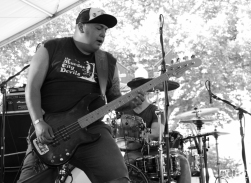 Alex Dorame vocals/bassist of PEACE KILLERS, Concerts in the Park, Cesar Chavez Park, Sacramento, CA. June 3, 2016, Photo Anouk Nexus