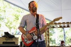 Andrew Harrison singer/lead guitarist of the PEACE KILLERS, Concerts in the Park, Cesar Chavez Park, Sacramento, CA. June 3, 2016, Photo Anouk Nexus