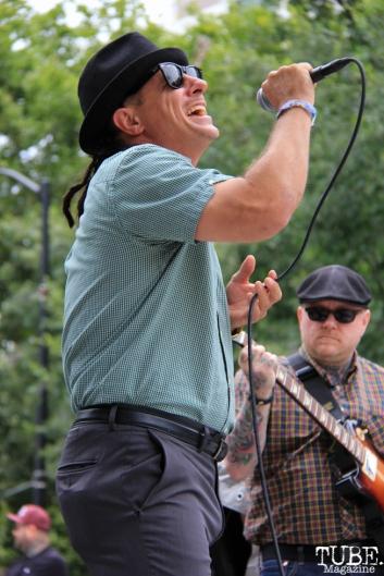 The Scratch Outs singer, Ras Matthew, Concerts in the Park, Cesar Chavez Park, Sacramento, CA. June 17, 2016. Photo Anouk Nexus