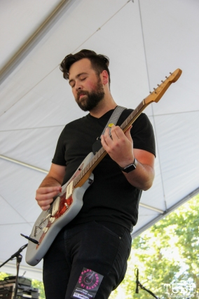 Barry Crider guitarist of NMBRSTTN, Concerts in the Park, Cesar Chavez Park, Sacramento, CA. June 3, 2016, Photo Anouk Nexus