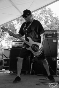 Jon the Jew bassist of Kill The Precedent, Concerts in the Park, Cesar Chavez Park, Sacramento, CA. June 3, 2016, Photo Anouk Nexus