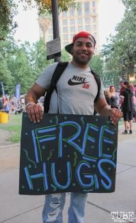 Ramon Luis audience member, Concerts in the Park, Cesar Chavez Park, Sacramento, CA. June 3, 2016, Photo Anouk Nexus