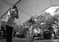 Donovan Melero singer, Shane Gann guitarist and Alan on drums of Hail the Sun, Concerts in the Park, Cesar Chavez Park, Sacramento, CA. June 3, 2016, Photo Anouk Nexus
