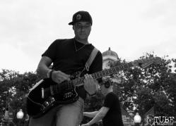 Vokab Kompany guitarist, Richard Galiguis, Concerts in the Park, Cesar Chavez Park, Sacramento, CA. June 17, 2016. Photo Anouk Nexus