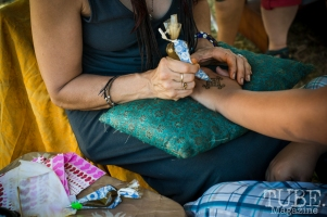Henna at the Crocker Block by Block Party in District 5, July 9, Sacramento CA. Photo Melissa Uroff