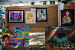 Crocker Pop Up Gallery at Block by Block Party in District 5, July 9, Sacramento CA. Photo Melissa Uroff