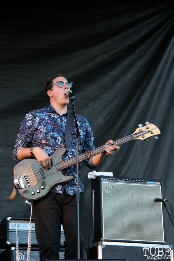 -Bassist/Backup Vocals Max Ramey of Monophonics, Davis Community Park, Davis, CA. July 4, 2016. Photo Anouk Nexus