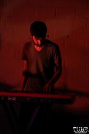 Keyboardist Zach Hake of Sunmonks, Red Museum, Sacramento, CA. July 17, 2016. Photo Anouk Nexus