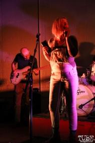 Vocalist Alexandra Steele and Bassist Dave Middleton of Sunmonks, Red Museum, Sacramento, CA. July 17, 2016. Photo Anouk Nexus