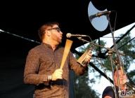 Trumpet/Percussion/Backup Vocals Ryan Scott of Monophonics, Davis Community Park, Davis, CA. July 4, 2016. Photo Anouk Nexus