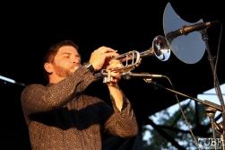 Trumpet Ryan Scott of Monophonics, Davis Community Park, Davis, CA. July 4, 2016. Photo Anouk Nexus