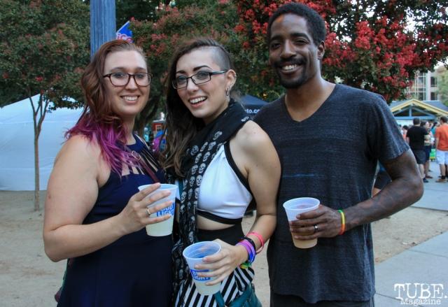 Shayna Conant, Victoria Elise, and Leryan Burrey, Audience Members, Concerts in the Park, Cesar Chavez Park, Sacramento, CA. July 8, 2016. Photo Anouk Nexus