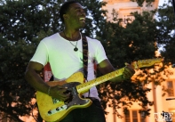 Guitarist for Tyler Rich, Concerts in the Park, Cesar Chavez Park, Sacramento, CA. July 8, 2016. Photo Anouk Nexus
