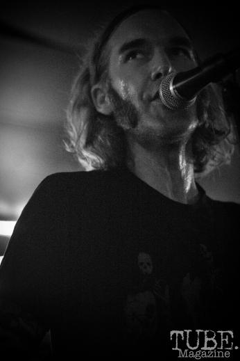 ocalist Derek Fieth of Pets, Pets CD Release show, Hideaway, 8/20/16. Photo: Charles Gunn