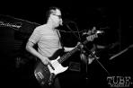 Bassist Brad Teichman of Ancient Sons, Pets CD Release show, Hideaway, 8/20/16. Photo: Charles Gunn