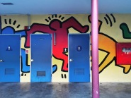 Keith Haring inspired student collaboration, Sacramento State University, Sacramento, CA