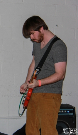 Bassist Cory Barringer of Dog Rifle, Sac Stay Home Fest, Red Museum, Sacramento, CA. August 13, 2016. Photo Anouk Nexus