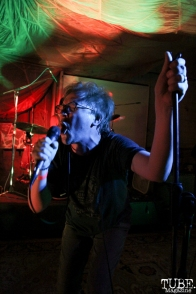 Vocalist William Hal of The Happy Medium, Sac Stay Home Fest, Red Museum, Sacramento, CA. August 13, 2016. Photo Anouk Nexus