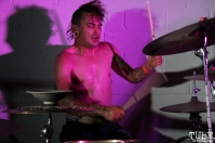 Drummer Trash Magic, Sac Stay Home Fest, Red Museum, Sacramento, CA. August 13, 2016. Photo Anouk Nexus