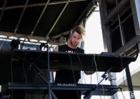 Keyboardist Aaron Rothe of 888, City of Trees, Bonney Field, Sacramento, CA. September 10, 2016. Photo Anouk Nexus