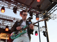 Vocalist/Guitarist Rivers Cuomo of Weezer, City of Trees, Bonney Field, Sacramento, CA. September 10, 2016. Photo Anouk Nexus