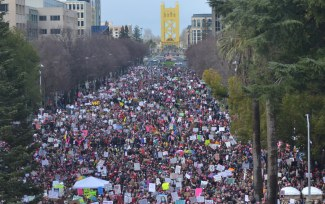 Woman's March Sacramento, January 21, 2017. Photo Dan Tyree