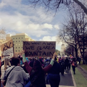 Woman's March Sacramento, January 21, 2017. Photo Rachel Harcourt.