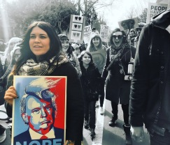 Sara Harris, Woman's March Sacramento, January 21, 2017. Photo Joey Miller