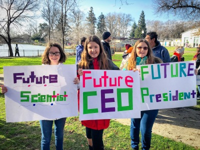 Woman's March Sacramento, January 21, 2017. Photo Allyson Seconds.