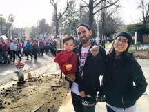 Crystal, Ezra and Josh Fernandez, Woman's March Sacramento, January 21, 2017. Photo Allyson Seconds