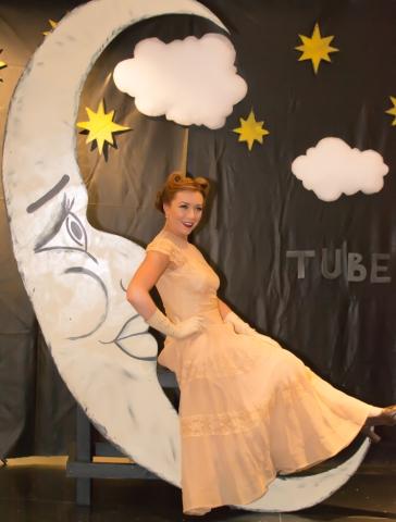 TUBE.s Paper Moon, Vintage Swank ArtMix, Crocker Art Museum, March 2017. Photo Dan Tyree