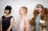 Racks Vintage Boutique behind the scenes of the fashion show at Vintage Swank ArtMix, Crocker Art Museum, March 2017. Photo Heather Uroff