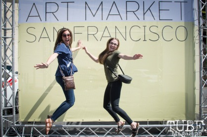 TUBE. jumping for joy at the Art Market, in San Francisco. April 2017. Photo Heather Uroff