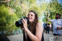 TUBE. photographer Anouk Nexus photographing at First Festival. River Walk, West Sacramento CA. Photo Melissa Uroff May 2017