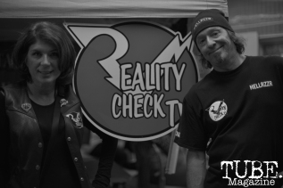 Promoters, Reality Check TV, at Colonial Fest In Sacramento, CA, March 26, 2017. Photo by Emma Montalbano.
