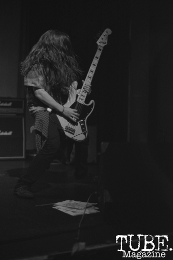 Gerard Aguilar of Exiled From Grace at Colonial Fest in Sacramento, CA, March 26, 2017. Photo by Emma Montalbano.