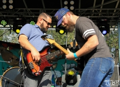 Bassist Joseph Castro and Guitarist Gabriel Levan Aiello of Drop Dead Red, First Festival, River Walk, Sacramento, CA. May 2017. Photo Anouk Nexus