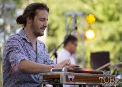 Alexander Chaney, Guitarist for Josh Lane and the Heartfelt Concert in the Park, Sacramento CA 2017 Photo Dan Tyree
