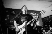 Bass player of Short Temper performing at Colonial Fest, in Sacramento CA. May 2017. Photo Heather Uroff