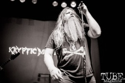 Lead Singer of Kryptic Memories performing at Colonial Fest, in Sacramento CA. May 2017. Photo Heather Uroff